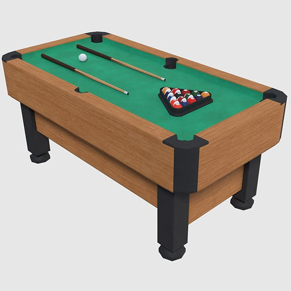 Pool Table - Game Ready by XepphireStudios | 3DOcean