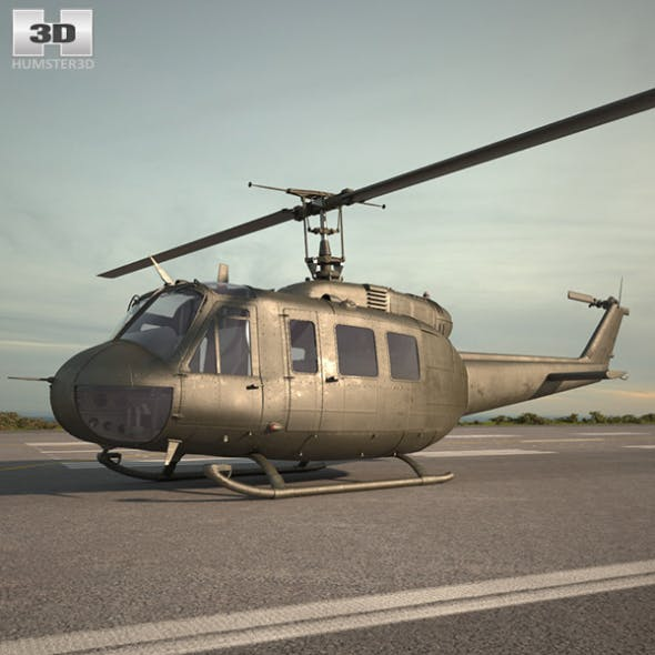 Bell UH-1 Iroquois - 3DOcean Item for Sale
