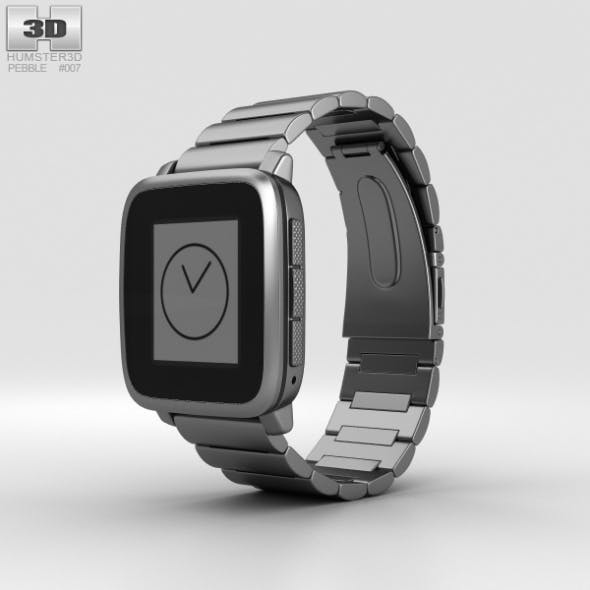 Pebble Time Steel Gunmetal Black Metal Band
