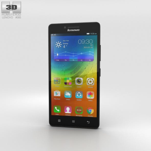 Lenovo A6000 Black - 3DOcean Item for Sale