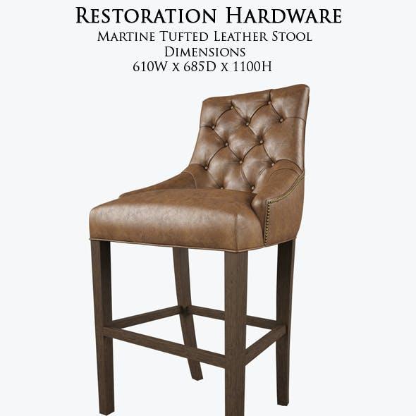 Restoration Hardware /Martine Tufted Leather Stool
