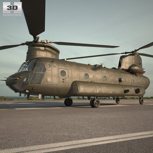 Boeing CH-47 Chinook - 3DOcean Item for Sale