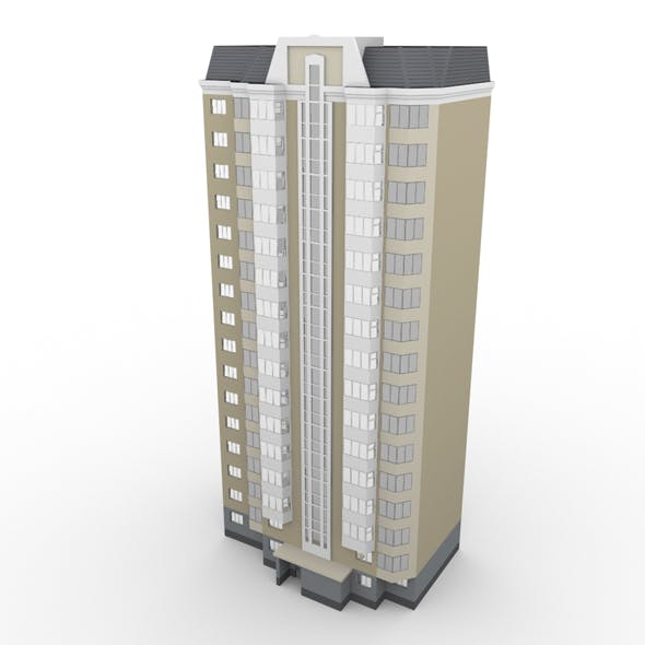 Residential Building 002 - 3DOcean Item for Sale