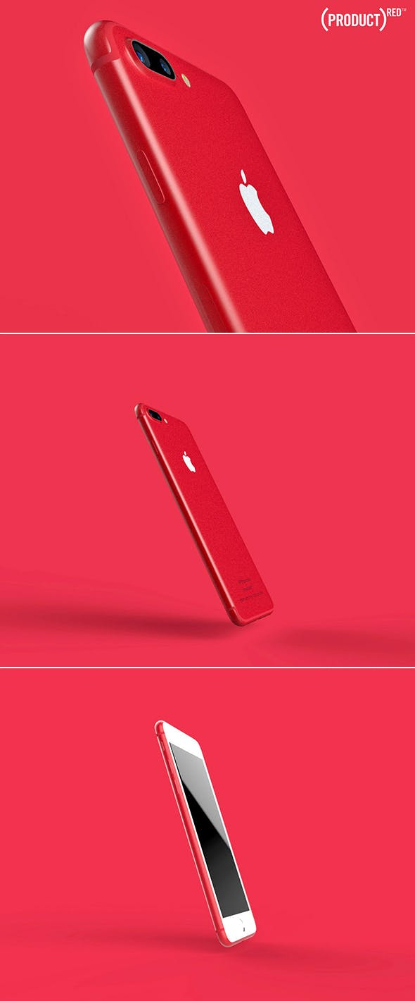 iphone 7 Plus Red - Special-Edition - 3DOcean Item for Sale