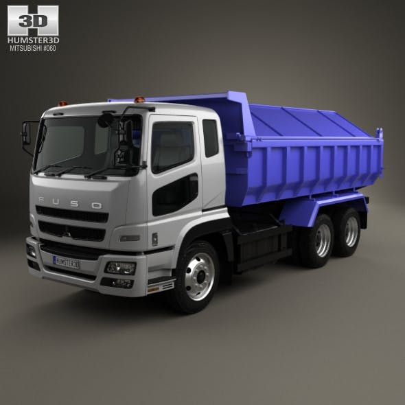 Mitsubishi Fuso Super Great Dump Truck 3-axle 2007 - 3DOcean Item for Sale