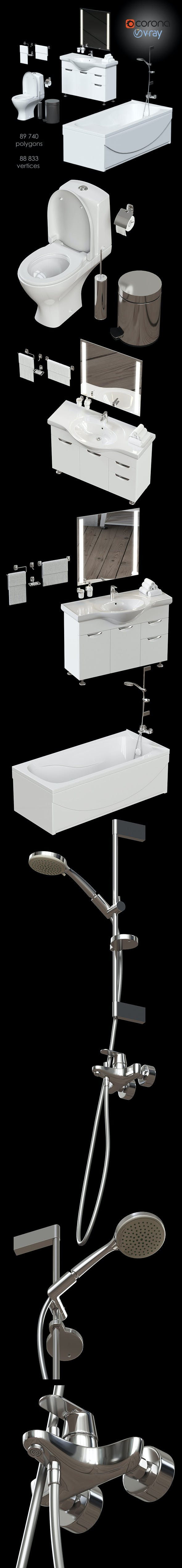 Large set for fast furnishing of a bathroom - 3DOcean Item for Sale