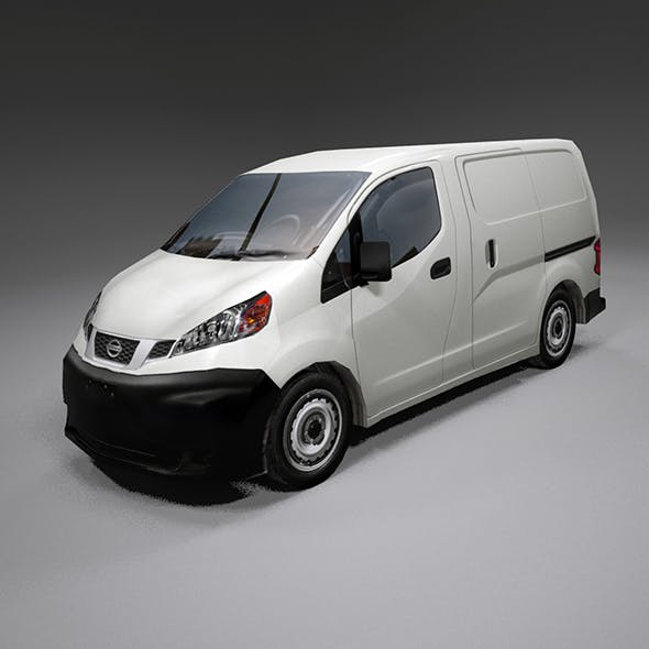 Nissan Nv200 lo-poly van - 3DOcean Item for Sale