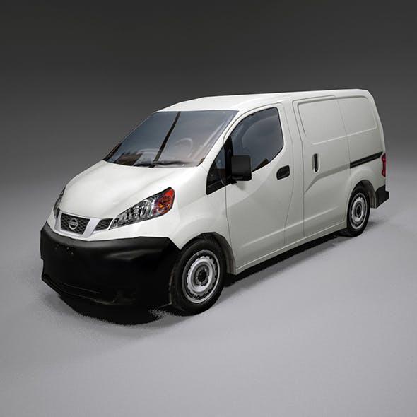 Nissan Nv200 lo-poly van