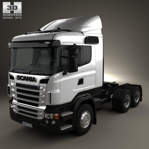 Scania R420 Tractor Truck 3-axle 2009 - 3DOcean Item for Sale