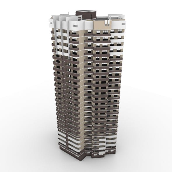 Residential Building 004 - 3DOcean Item for Sale