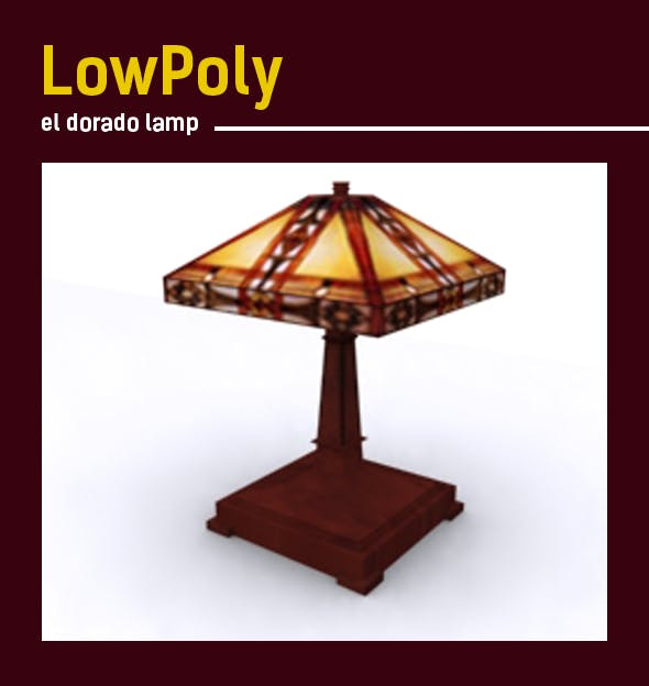 Lowpoly 3D el-dorado lamp model - 3DOcean Item for Sale