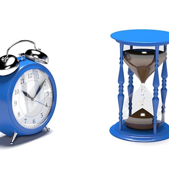 Alarm Clock & Hourglass