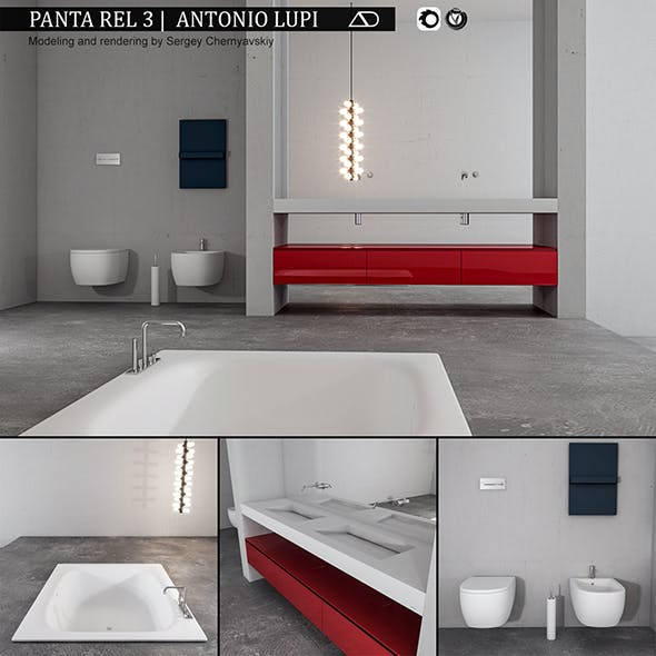 Bathroom furniture set Panta Rel 3