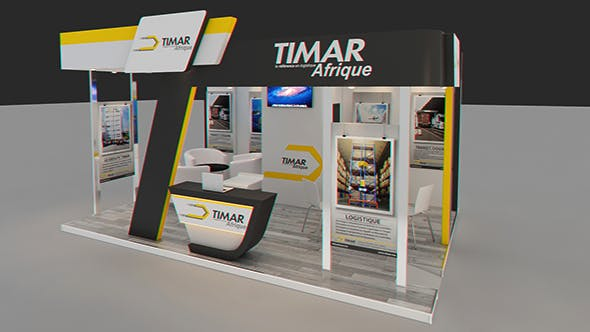 Exhibition Booth Obj : Exhibition booth 3d model by marzouq3d 3docean