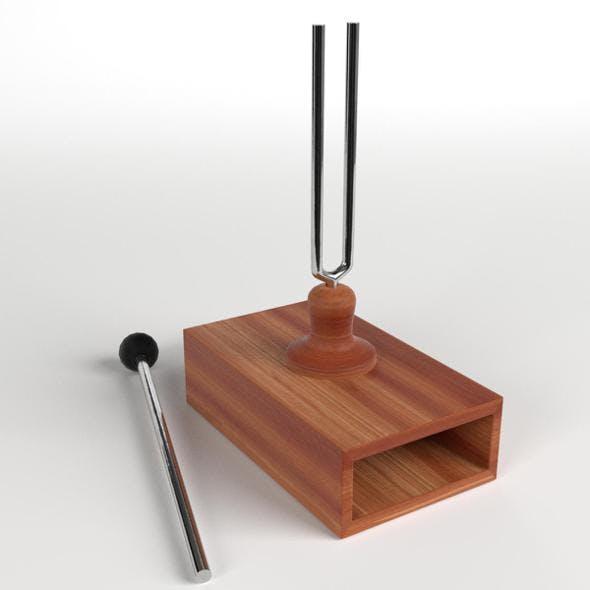 Tuning Fork on Resonator Box
