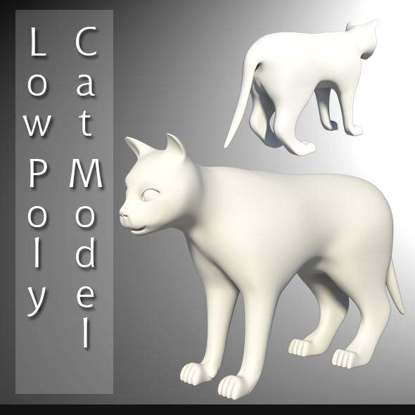Low Poly Cat Model