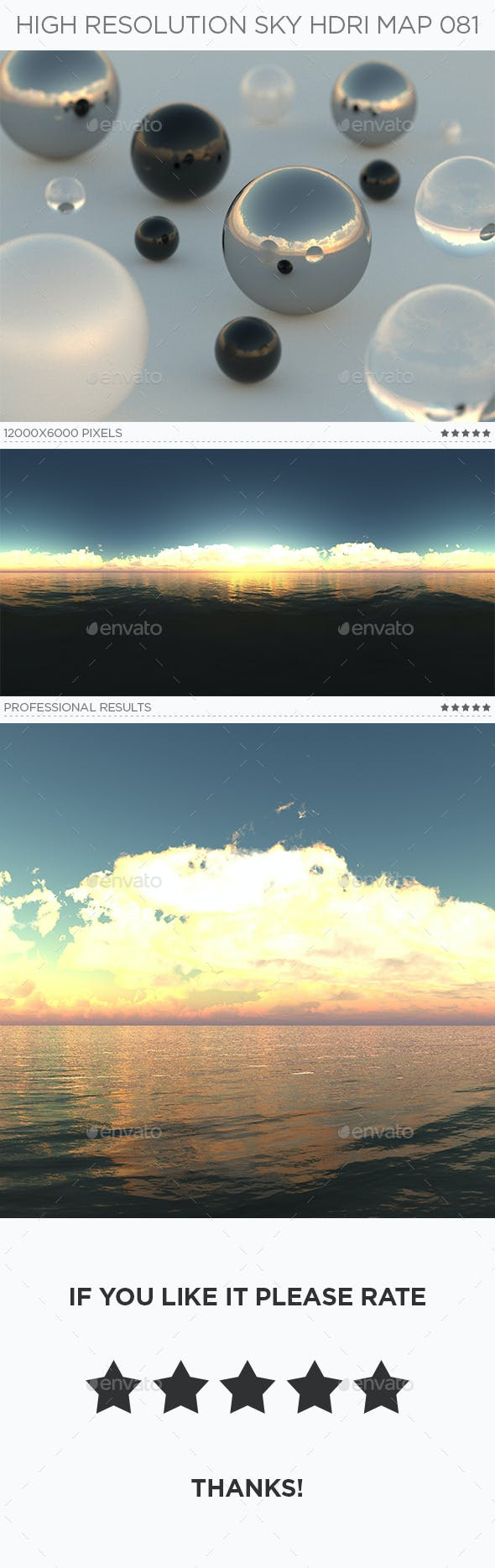 High Resolution Sky HDRi Map 081 - 3DOcean Item for Sale