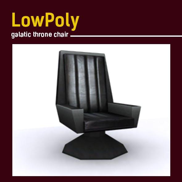 Lowpoly galatic throne chair model