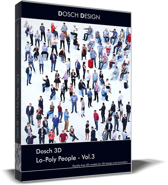 Dosch 3D - LoPoly People Vol.3 - 3DOcean Item for Sale