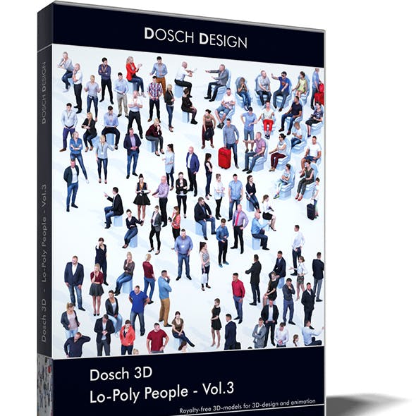 Dosch 3D - LoPoly People Vol.3