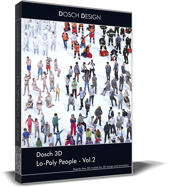 Dosch 3D - LoPoly People Vol.2 - 3DOcean Item for Sale