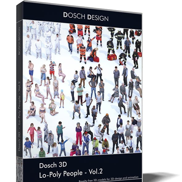 Dosch 3D - LoPoly People Vol.2