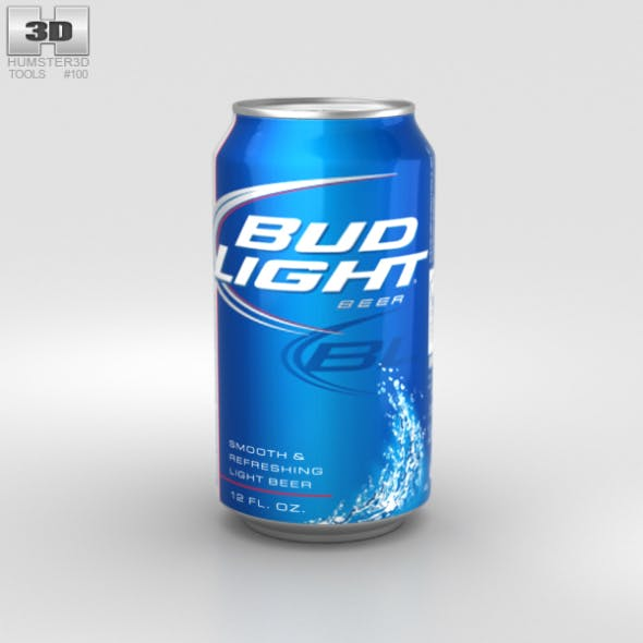 Budlight Beer Can 330 ml - 3DOcean Item for Sale