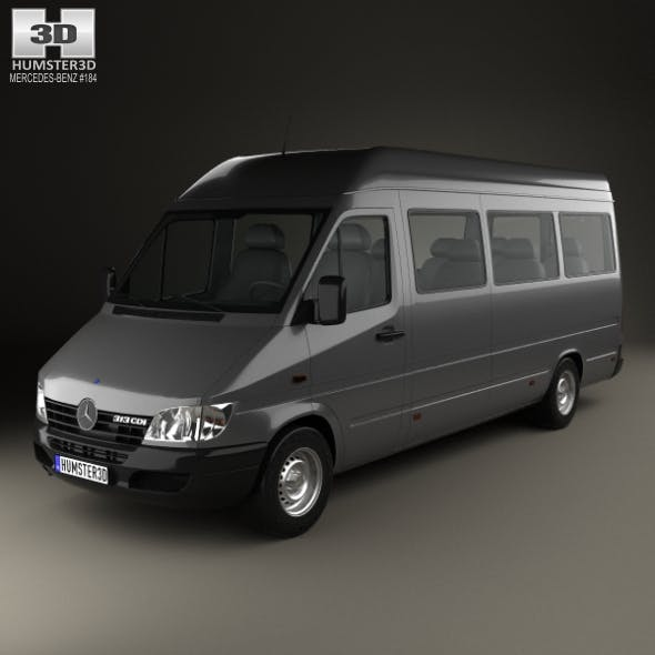 Mercedes-Benz Sprinter (903) Passenger Van L3H2 2000 - 3DOcean Item for Sale