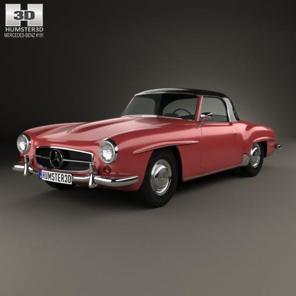 Mercedes-Benz SL-class (R121) hardtop 1955 - 3DOcean Item for Sale