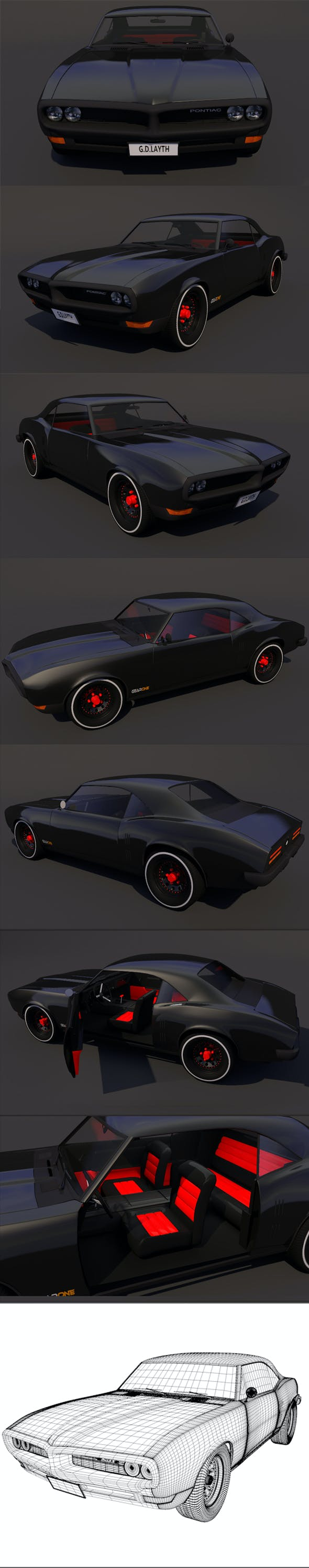 pontiac firebird v2 Full Textures 1080 - 3DOcean Item for Sale