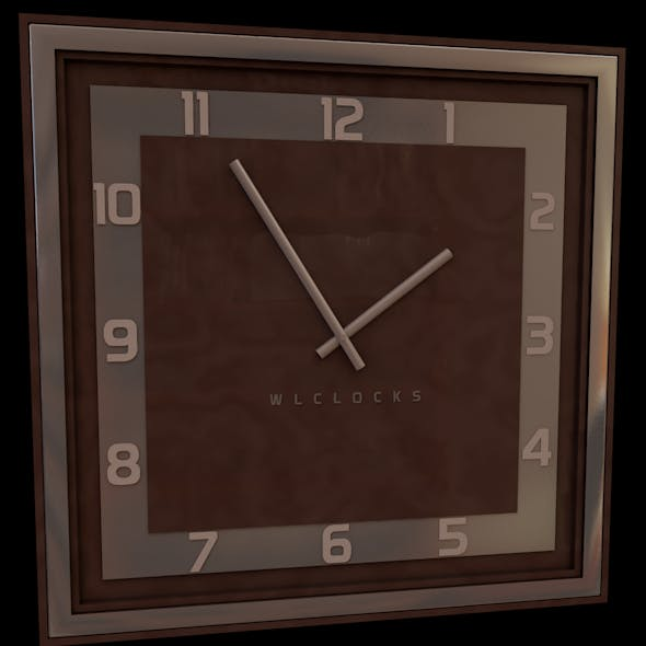 Square wall clock