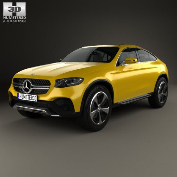 Mercedes-Benz GLC Coupe Concept 2014 - 3DOcean Item for Sale