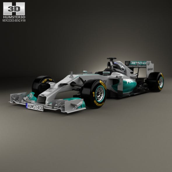 Mercedes-Benz W05 2014 - 3DOcean Item for Sale