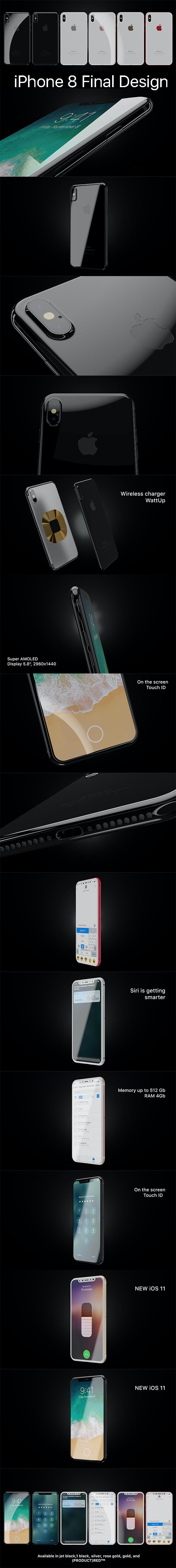 Apple iPhone 8 All Colors - 3DOcean Item for Sale