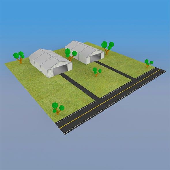 German Hangar - 3DOcean Item for Sale