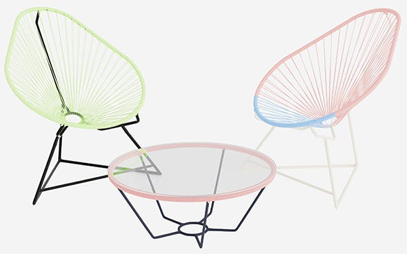 Acapulco chair - 3DOcean Item for Sale