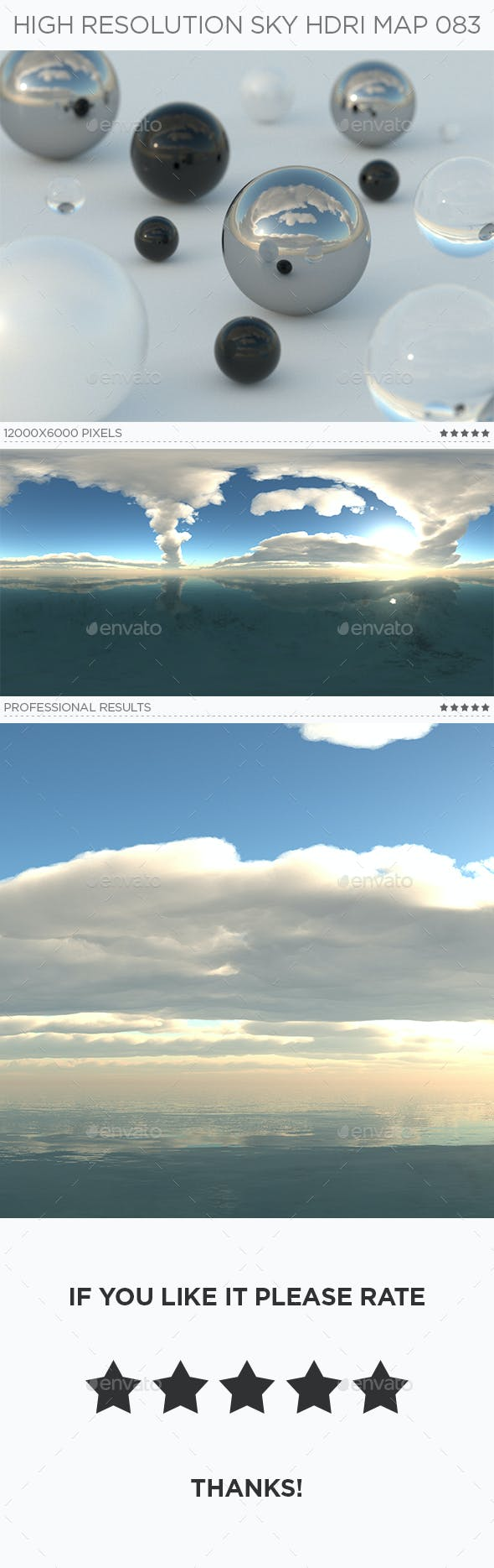 High Resolution Sky HDRi Map 083 - 3DOcean Item for Sale