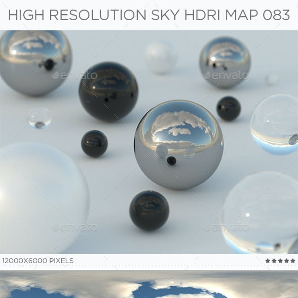 High Resolution Sky HDRi Map 083