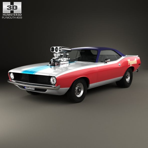Plymouth Barracuda Dragster 1974 - 3DOcean Item for Sale