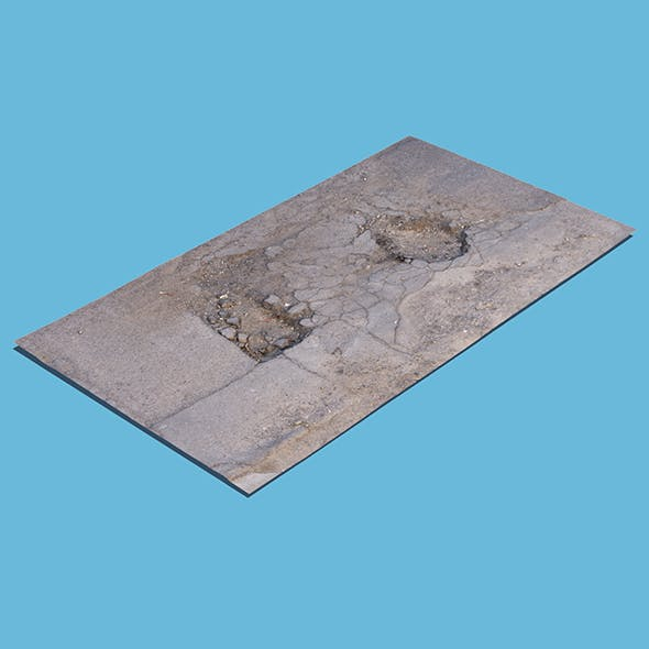 Damaged Asphalt (3D scan) - 3DOcean Item for Sale