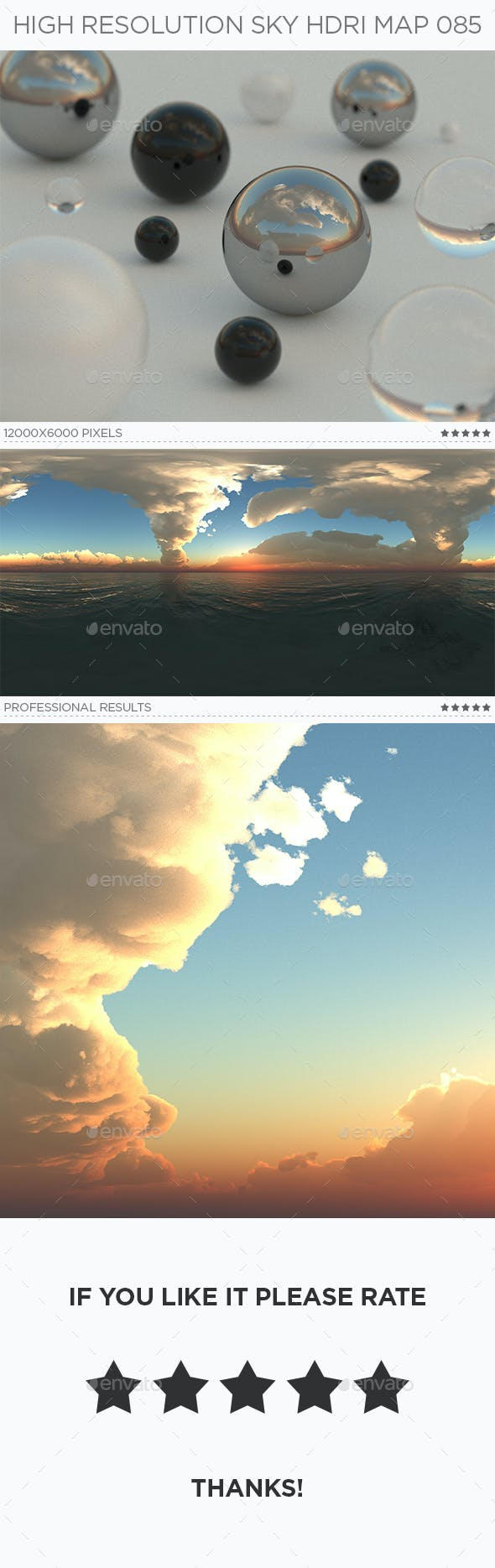 High Resolution Sky HDRi Map 085 - 3DOcean Item for Sale