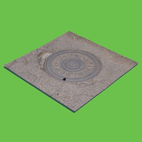 Phoenix Manhole Cover (3D scan) - 3DOcean Item for Sale