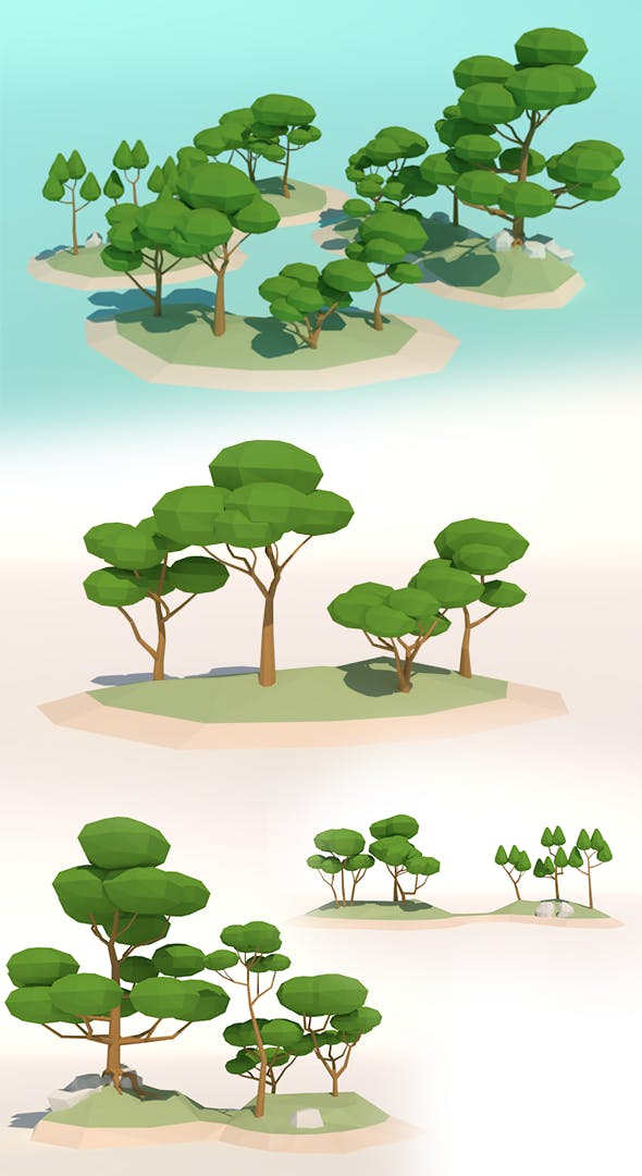 LowPoly Trees PB1 - 3DOcean Item for Sale