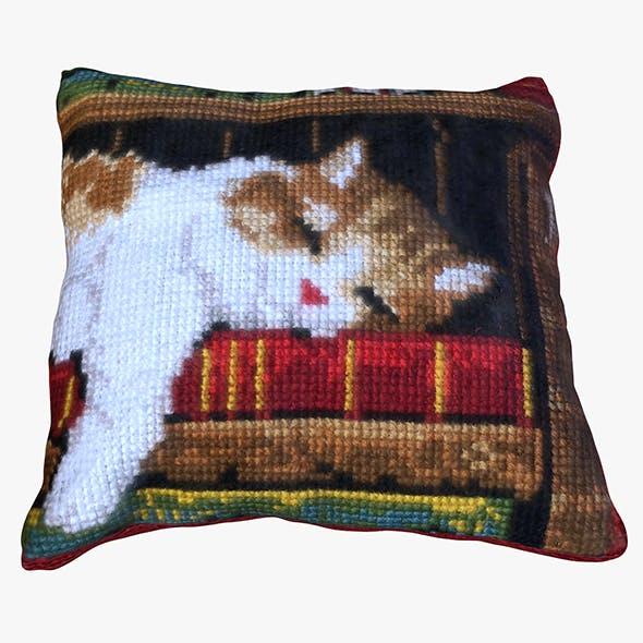 Cat Pillow - 3DOcean Item for Sale