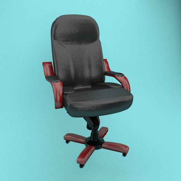 Leather office chair - 3DOcean Item for Sale