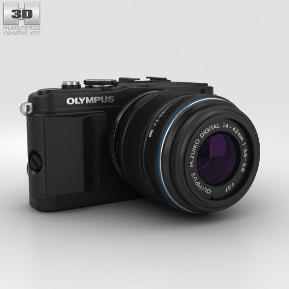 Olympus PEN E-PL5 Black - 3DOcean Item for Sale