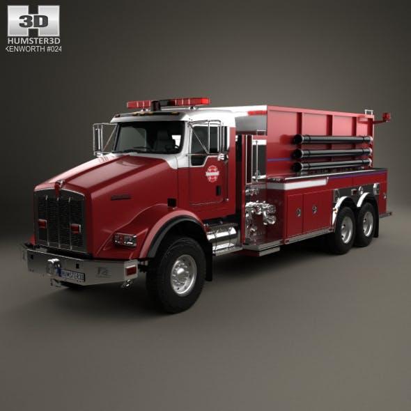 Kenworth T800 Fire Truck 3-axle 2005 - 3DOcean Item for Sale
