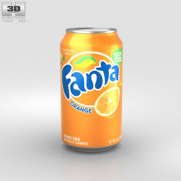 Fanta Orange Can 12 FL - 3DOcean Item for Sale