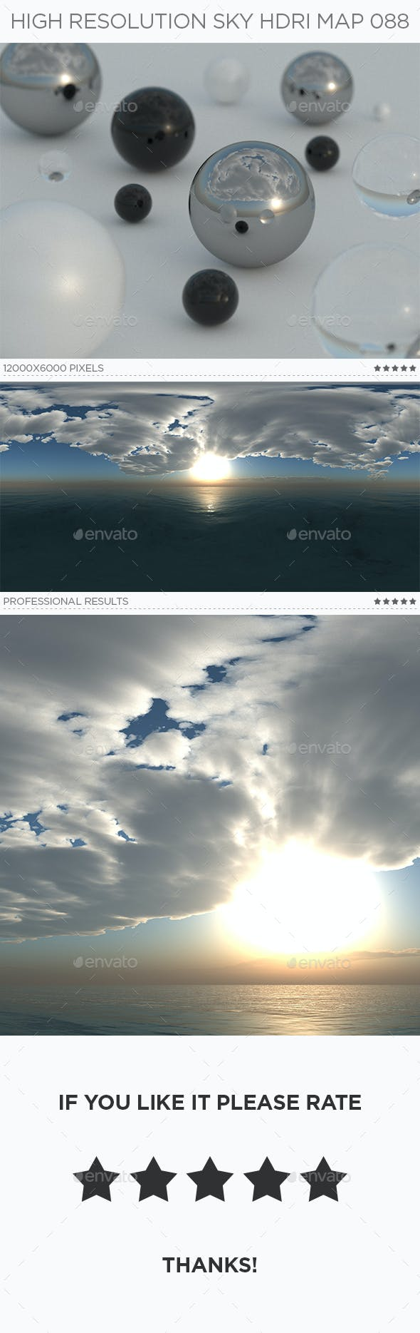 High Resolution Sky HDRi Map 088 - 3DOcean Item for Sale