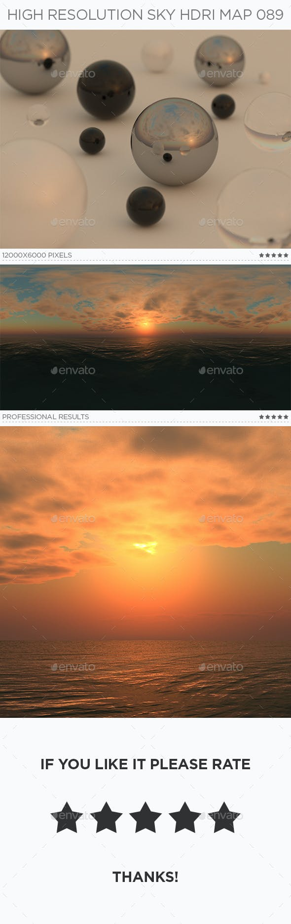 High Resolution Sky HDRi Map 089 - 3DOcean Item for Sale